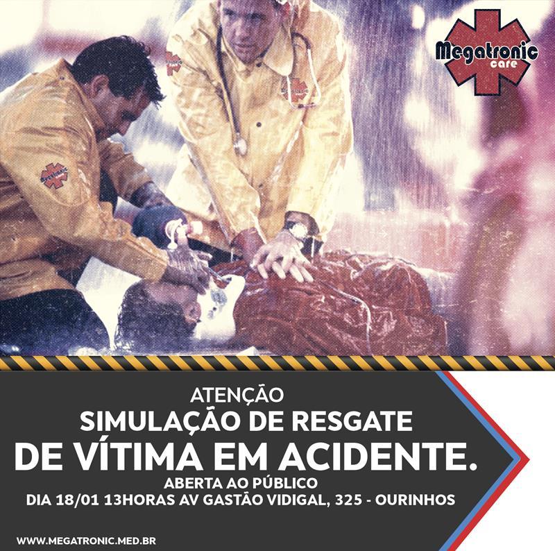 Vem aí: Simulação de resgate de vítima em acidente.
